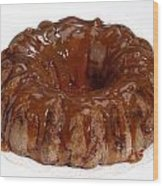 Apple Caramel Bundt Cake Wood Print