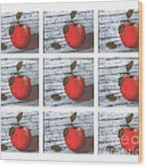 Apple Collage Wood Print