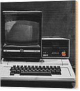 Apple II Personal Computer 1977 Wood Print by Bill Cannon