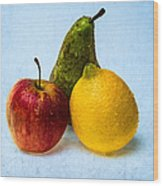 Apple - Lemon - Pear Wood Print