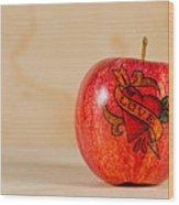 Apple Love Wood Print