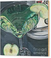 Apple Martini Wood Print