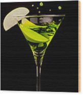 Apple Martini Splash Wood Print