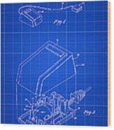 Apple Mouse Patent 1984 - Blue Wood Print