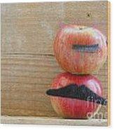 Apple Over Apple Wood Print