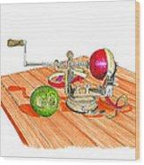 1909 Vintage Apple Peeler Hand Crank Wood Print