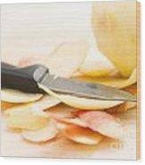 Apple Peels Wood Print