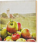 Apple Picking Time Wood Print by Edward Fielding