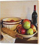 Apple Pie Impressions Wood Print