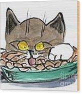 Apple Pie Vs. Hungary Cat Wood Print