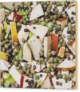 Apple Salad With Capers And Leaf Celery Wood Print