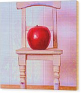 Apple Still Life With Doll Chair Wood Print by Edward Fielding