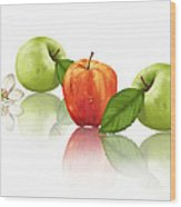 Apple Story Wood Print