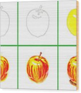 Apple Study Wood Print