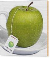 Apple Tea Wood Print