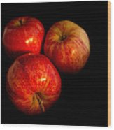 Apple Trio Wood Print