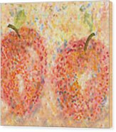 Apple Twins Wood Print
