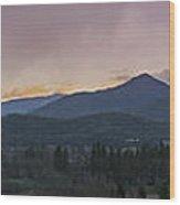 Applegate Valley Se Winter Evening Wood Print