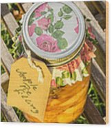Applepie Filling Canned Wood Print