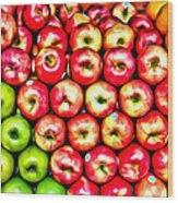 Apples And Oranges Wood Print
