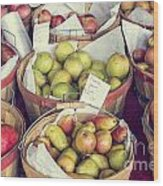 Apples And Pears For Sale Wood Print