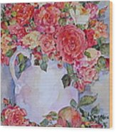 Apples And Roses Wood Print