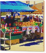 Apples Cortlands Lobos Honey Crisps Mcintosh Atwater Market Apple Fruit Stall Foodart Carole Spandau Wood Print