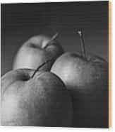 Apples Mono Wood Print