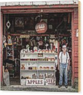 Apples. The Natural Temptation - Farmer And Old Farm Signs Wood Print