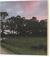 Appleton Sunset Wood Print