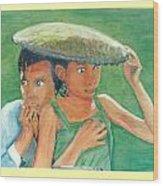 Apprehension In Vietnam Wood Print