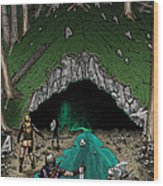 Approach To The Kobold Caves Wood Print