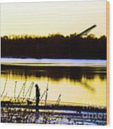 Approaching Dawn Wood Print