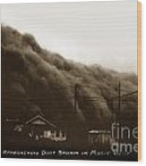 Approaching Dust Storm In Middle West By Frank D. Conard Circa 1938 Wood Print
