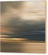 Approaching Evening Storm Wood Print by Bob Retnauer