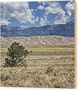 Approaching Great Sand Dunes #2 Wood Print