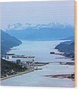 Approaching Juneau Wood Print