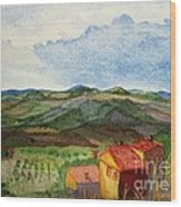 Approaching Montepulciano Wood Print