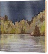 Approaching Rain Wood Print