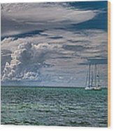 Approaching Storm At Whale Harbor Wood Print