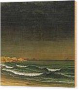 Approaching Storm Near Newport Beach Wood Print by Martin Heade