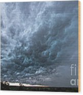 Approaching Storm Over Belton-sunset Wood Print