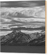 Approaching Storm Over Lake Tahoe Wood Print