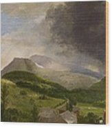Approaching Storm  White Mountains Wood Print