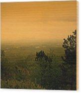Approaching Sun Rise Wood Print
