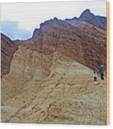 Approaching The Jagged Peaks In Golden Canyon In Death Valley National Park-california  Wood Print