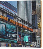 approaching Times Square Wood Print