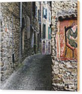 Apricale.italy Wood Print
