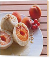 Apricotknoedel Wood Print