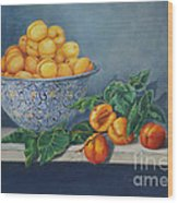 Apricots And Peaches Wood Print by Enzie Shahmiri